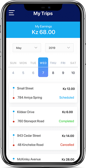 transport driver app features