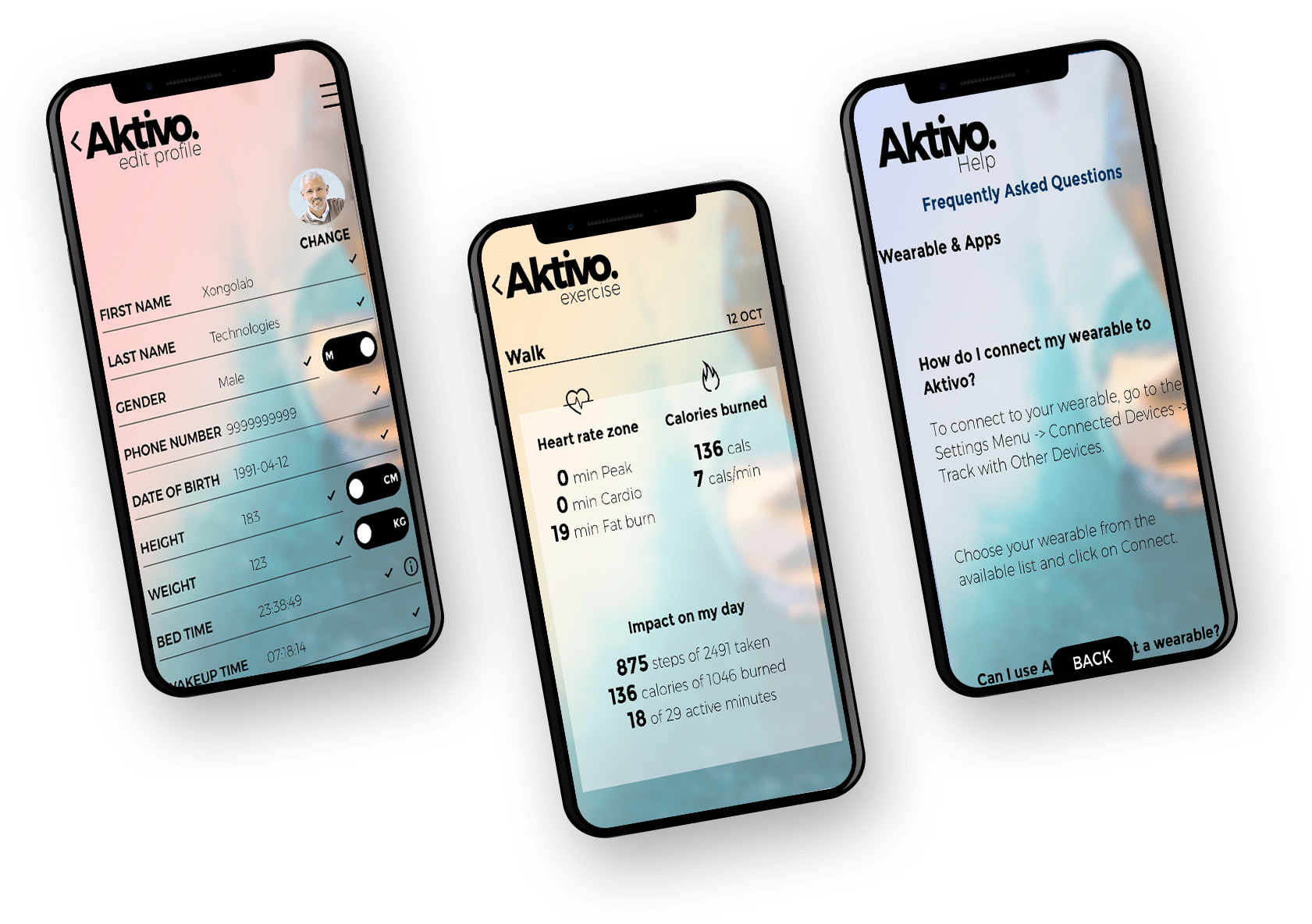 aktivo screens