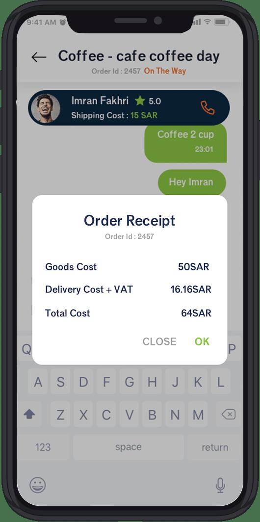 order receipt
