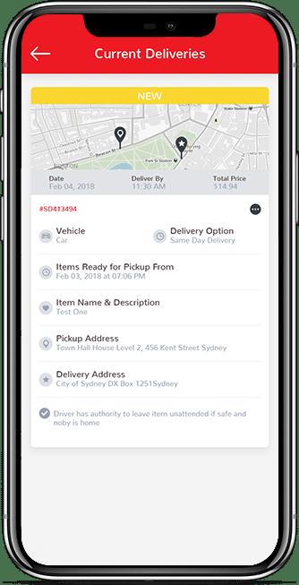 customer app screen