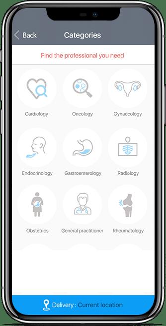 patient app screen